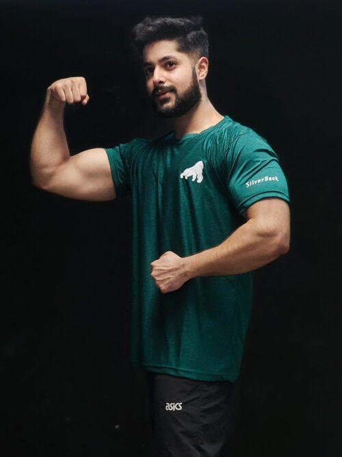 Dark Green Half Sleeves T-shirt 2